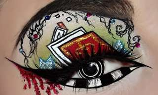 Amazing Skillful Eye Makeup!