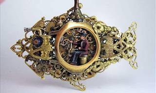 Artist Turns Pocket Watches to Art