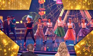Dance Number From Grease in a Spectacular Performance