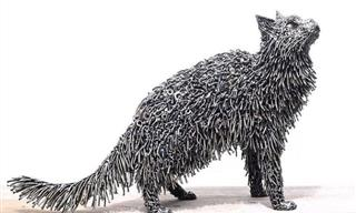20 Magnificent Sculptures Made Entirely of Scrap Metal