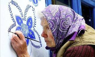 The 90-Year-Old Woman Who's Painting Her Town All Flowery
