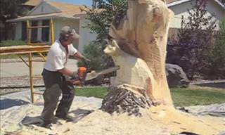 Turning a Tree Trunk into a Work of Art