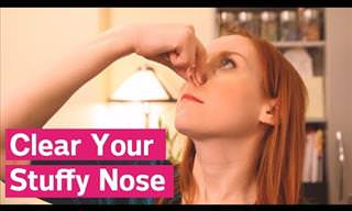 Here's How to Clear a Stuffy Nose Instantly