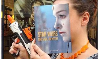 French Bookstore Lets Customers Pose With Book Covers