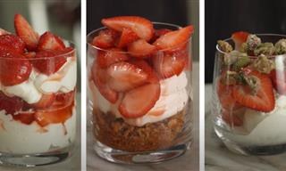 Strawberries in a Cup - 3 Easy Dessert Recipes