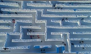 Welcome to Snowlandia: The Biggest Snow Maze in the World