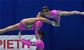 WATCH: The Most Amazing Gymnastic Trio You'll Ever See