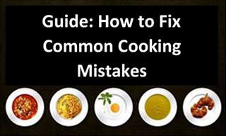 Guide to Correcting Mistakes in Cooking and Baking