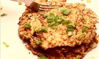 Cauliflower Hash Browns Recipe & Video