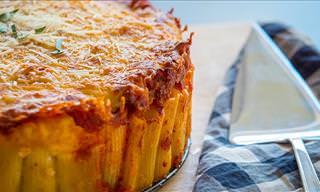 Delicious Rigatoni Pasta Pie