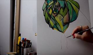 Artistic Mom Teams Up With Her 2 Year Old