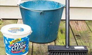 A Non-Toxic and Inexpensive Deck Cleaner
