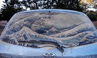 A Dusty Car Window Is a Canvas For Some People