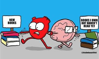 Funny Comics: How Our Intellect & Emotions Always Struggle