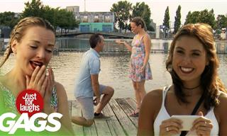 Funny Gags: This 'Proposal' Prank Isn't What It Looks!