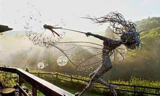 The Art of the Fairy Sculpture. How Beautiful.