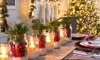 12 Ways to Decorate Your Dinner Table this Christmas