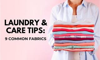 How to Launder and Care For 9 Common Fabrics