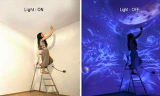 Dreamy Murals That Only Appear in the Dark