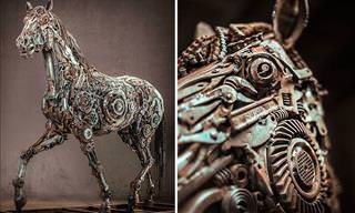 Wonderful Art Sculptures Made of Scrap Metal