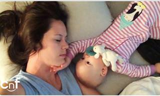 Funny: Mother Falls Asleep With Baby