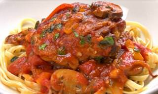 How to Make a Breath-Taking Chicken Cacciatore
