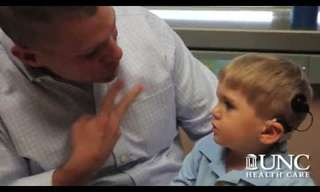 Deaf Toddler Hears Voice for the 1st Time!
