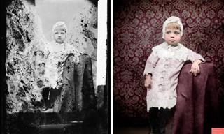 Artist Restores Nearly Destroyed Precious Vintage Photos