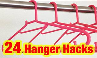 24 Simple But Genius Hanger Tricks to Use at Home!