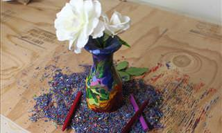 You Wouldn't Believe What This Colorful Vase is Made Of