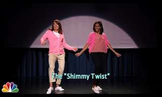 "Watch the First Lady Doing the evolution of the ""Mom Dance"""
