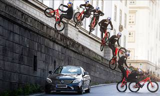 Fabio Wibmer Shows Incredible Urban bicycle Stunts