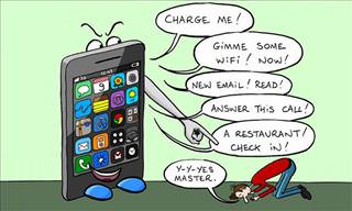 The Humor In Being Attached to Your Cellphone