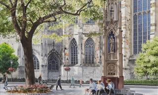 12 Watercolor Paintings of Famous Old European Landmarks