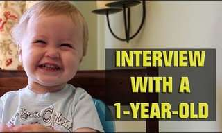 Interview with a one year old - Hilarious!