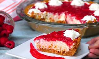 The Raspberry Cream Pie is Befitting of Any Occasion