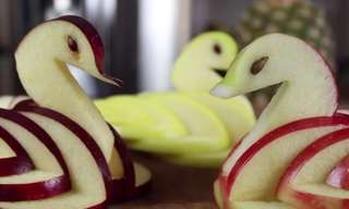 Impress Your Guests With This Easily Made Apple Swan!
