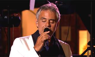 "Andrea Bocelli Performs ""La Vie En Rose"""