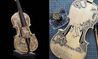 12 Unforgettable Violins Meticulously Decorated by Hand