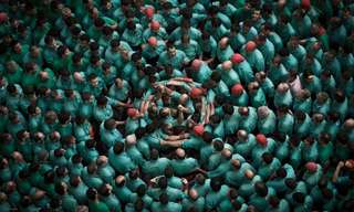 The Colorful Human Tower Builders of Catalonia