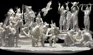 Jumping Off the Page - Incredible Paper Statues!