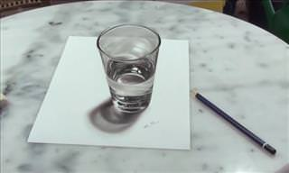 Highly Talented Artist Draws 3D Illusion