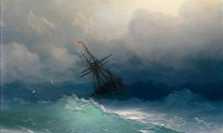 19th Century Paintings of Translucent Waves