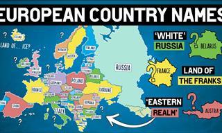 How Did European Countries Get Their Names?