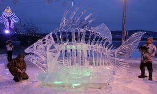 Ice, Ice, Beauty -  Stunning Ice Sculptures!