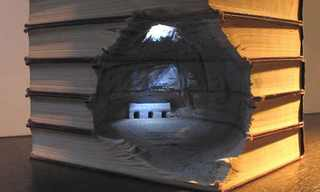 What This Artist Does With Books Will Shock You.