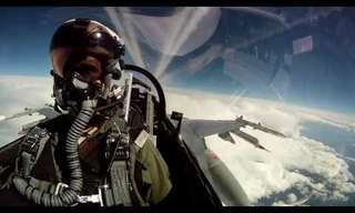 Flying Over Alaska in an F16 - Amazing!
