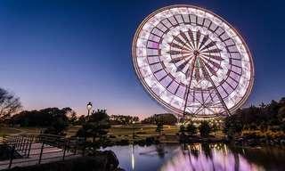 Ferris Wheels in Slow Exposure - Beautiful!