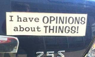 These 15 Bumper Stickers Are a Real Hoot!