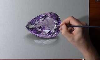 Surreal Amethyst Gemstone Creation